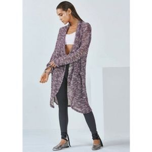 Fabletics Moscow Wrap Open Front Duster Cardigan